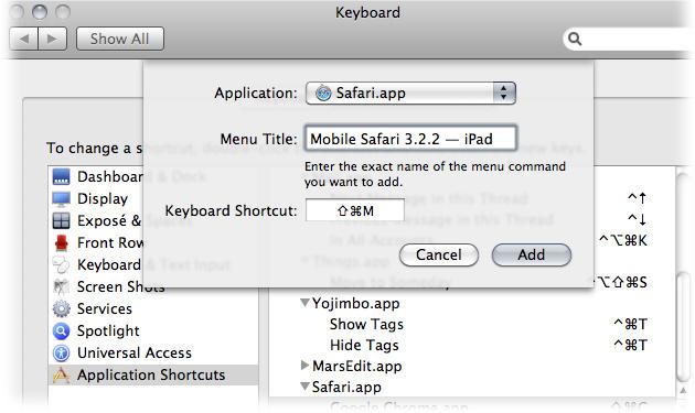 Set Safari Homepage