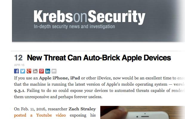 Найден способ превратить iPhone в«кирпич» повоздуху