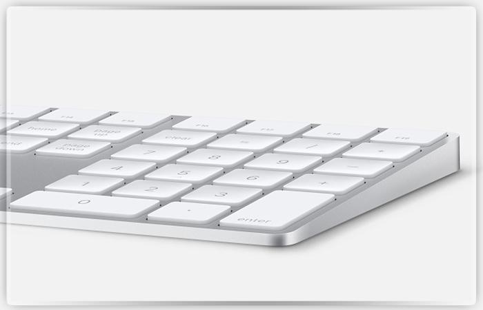 Apple выпустила беспроводную клавиатуру сцифровым блоком