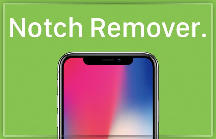 Приложение Notch Remover убирает вырез вверхней части экрана iPhone X