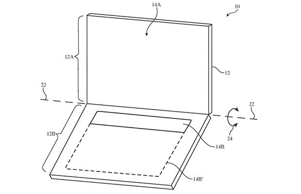 ВApple запатентовали новый ноутбук с экраном вместо обычной клавиатуры